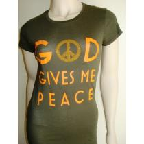 GOD GIVES PEACE short slv army tee